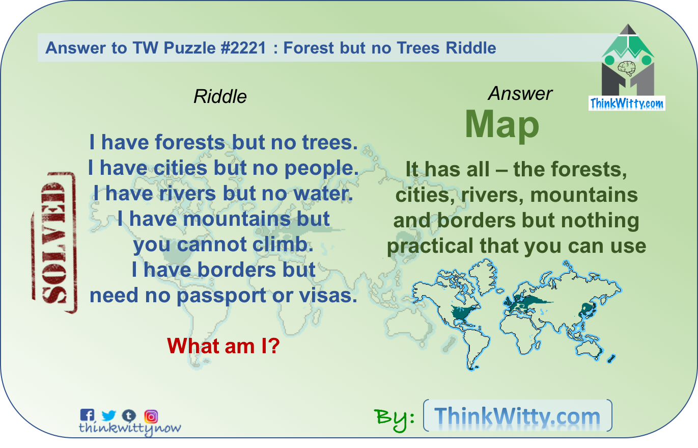 Answer to the Forest but no Trees Riddle - Think Witty
